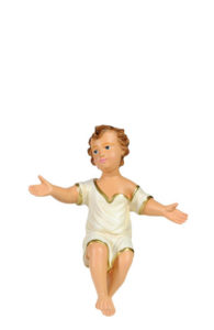statuina artigianale presepe in gesso gesù bambino