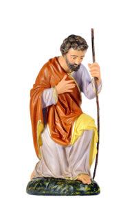 statua di sangiuseppe inginocchiato produzione arte barsanti presepi toscana