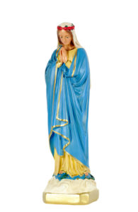 statua in gesso di madonna di produzione arte barsanti lucca