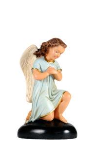 statuina di angelo in gesso di arte barsanti produzione presepi