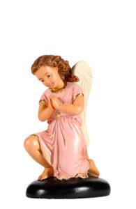 figura in gesso di angelo di arte barsanti produzione presepi