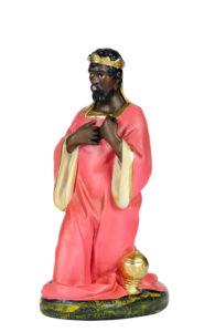 re magio statuina presepe in gesso realizzata e dipinta a mano