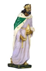 figura in gesso dipinto a mano di re magio arte barsanti toscana