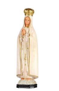 madonna di Fatima statu ain gesso dipinta a mano di produzione arte barsanti presepi