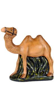 cammello in gesso per presepe realizzato e dipinto a mano