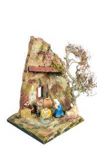 capanna per composizioni presepi di arte barsanti toscana