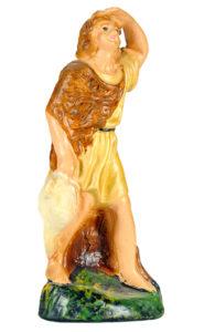 pastore con sguardo rivolto verso l'orizzonte realizzato in gesso