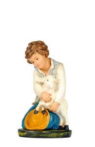 figurina in gesso dipinto a mano per presepi arte barsanti lucca