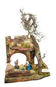 capanna presepe di arte barsanti produzione artigianale toscana presepi