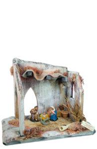 capanna raba presepe di arte barsanti produzione artigianale presepi
