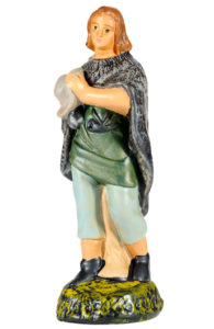figurina in gesso artigianale per presepe made in italy