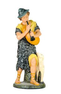 statuina in gesso per presepe artigianato toscano arte barsanti lucca