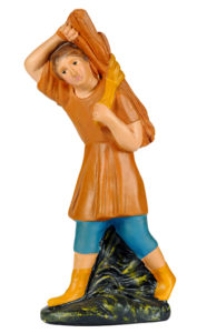 figura di pastore in gesso dipinta a mano per presepe made in italy
