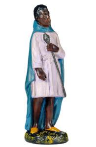 statuina in gesso colorato dipinto a mano per presepi made in italy