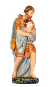 pastore in gesso dipinto a mano per presepi arte barsanti toscana