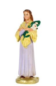 statua in gesso di santa maria goretti di produzione arte barsanti presepi lucca