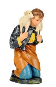 statuina pastore in gesso colorato a mano per presepi artigianato toscano