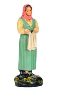 statuina in gesso realizzata e dipinta a mano per presepi