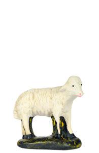 pecorella in gesso dipinto a mano per presepi artigianali arte barsanti lucca