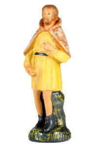 figura in gesso per presepe interamente realizzata a mano