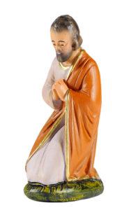 san giuseppe statuina in gesso dipinta a mano per prepe artigianato toscano