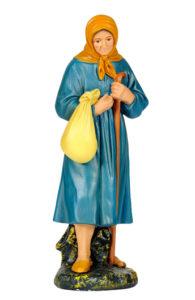 figura in gesso di contadina per presepi artigianali arte barsanti