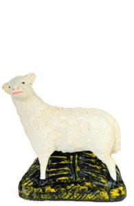 figurina in gesso colorato per presepi artigianato toscano