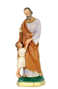 san giuseppe bambino ai piedi san michele di produzione arte barsanti statue in gesso e presepi artigianali