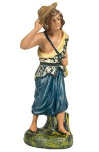 contadino figura in gesso per presepe artigianato made in italy