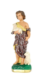 san giovanni bambino san michele di produzione arte barsanti statue in gesso e presepi artigianali