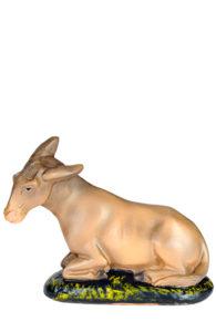 statuina presepio artigianale in gesso dipinta a mano