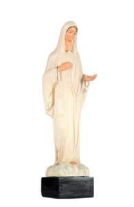 statua in gesso di madonna medugorje di produzione arte barsanti presepi