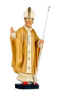 papa giovanni paolo II san michele di produzione arte barsanti statue in gesso e presepi artigianali