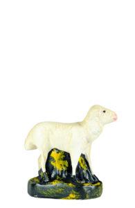 statuina pecorella in gesso artigianato toscano