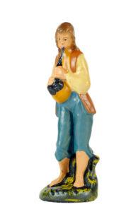 statuina in gesso per presepe realizzata e dipinta a mano