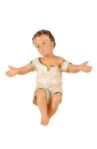gesù bambino in gesso colorato a mano per presepi arte barsanti lucca