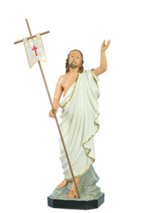 statua sacra raffigurante gesu risorto fatta in resina di produzione arte barsanti presepi