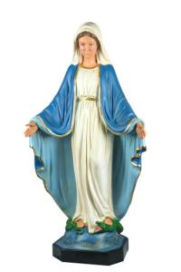 statua in resina di madonna immacolata dipinta a mano da arte barsanti presepi