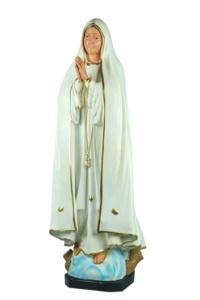 statua sacra in resina della madonna di fatima di produzione arte barsanti lucca