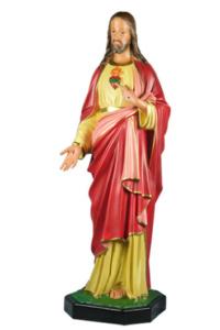 statua sacra di gesu sacro cuore in resina di produzione arte barsanti presepe lucca