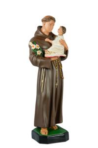 statua sacra di santa antonio da padova in resina di produzione arte barsanti presepe lucca