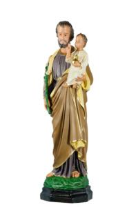 statua sacra di san giuseppe cm65 in resina di produzione arte barsanti presepe lucca