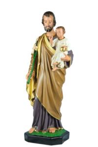statua sacra di san giuseppe in resina di produzione arte barsanti presepe lucca