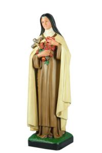 statua in resina figura di santa teresa santa di arte barsanti presepi lucca